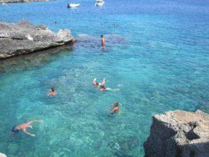 Pristine sea at Marina di Novaglie. Mare pulito. Das klare Meer in Marina di Novaglie