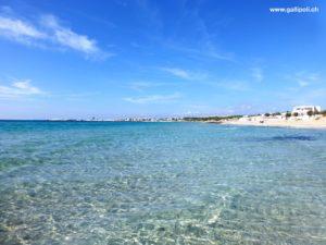 Gallipoli-Beach. Baia Verde. Strand von Gallipoli