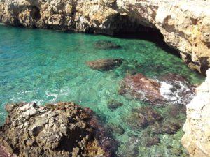 The clear sea. Mare del Salento. das klare Meer.