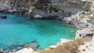 Sea of the region. Mare Salento costa del est. Ostküste in der Region